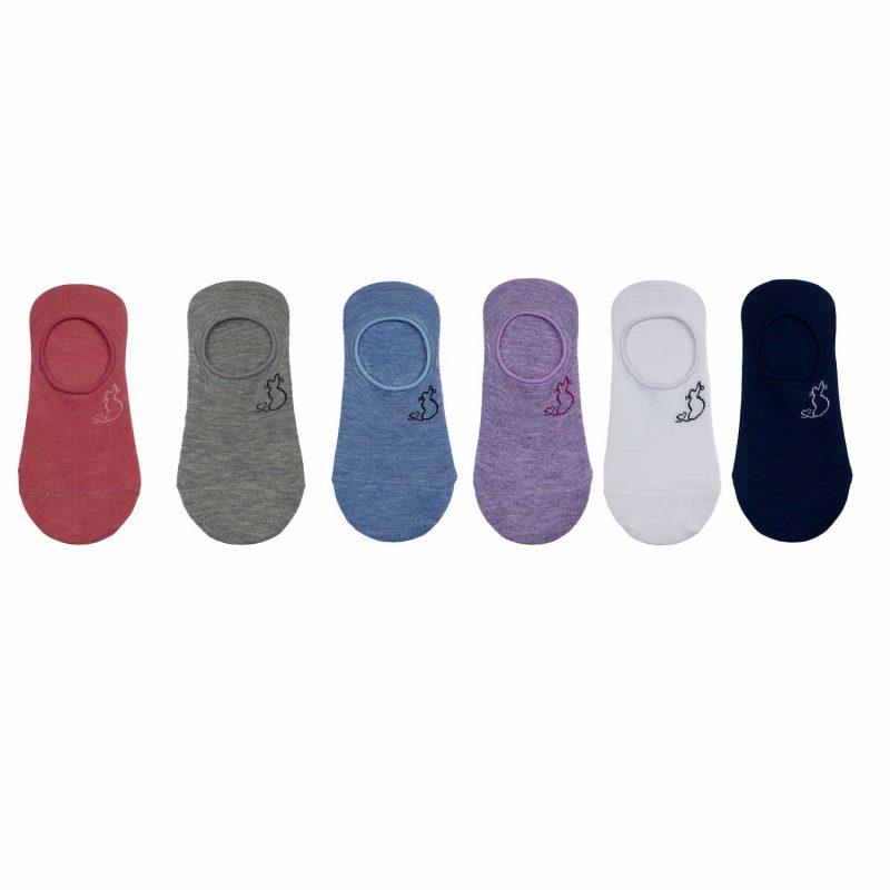 Kolorowe stopki idealne do codziennego użytku. Skarpetki znakomicie dopasowują się do stóp zapewniając najwyższy komfort noszenia. Wysoka jakość materiału zapewnia doskonałą cyrkulację powietrza na co dzień. Świetnie sprawdzają się do każdego rodzaju obuwia.