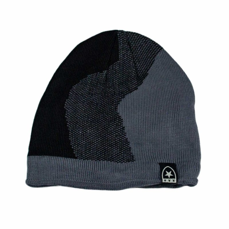 czarno-szara czapka meska