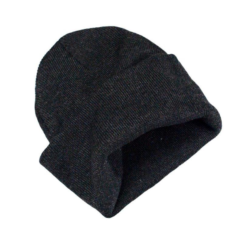 ciemno szara czapka meska