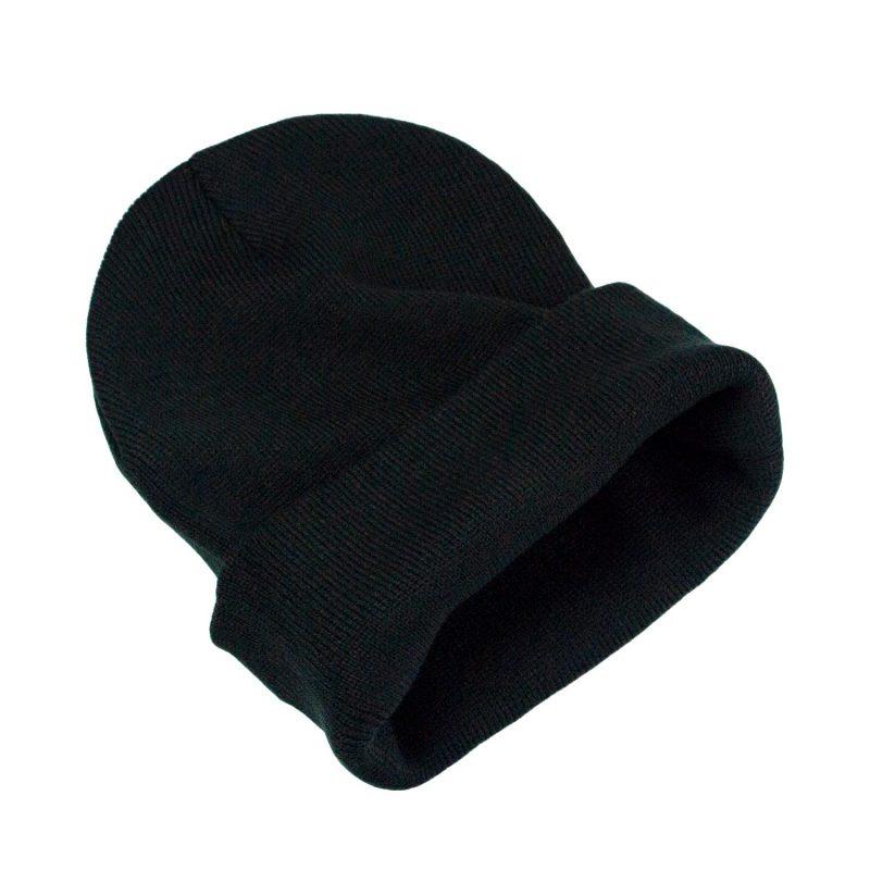 czapka klasyczna meska czarna